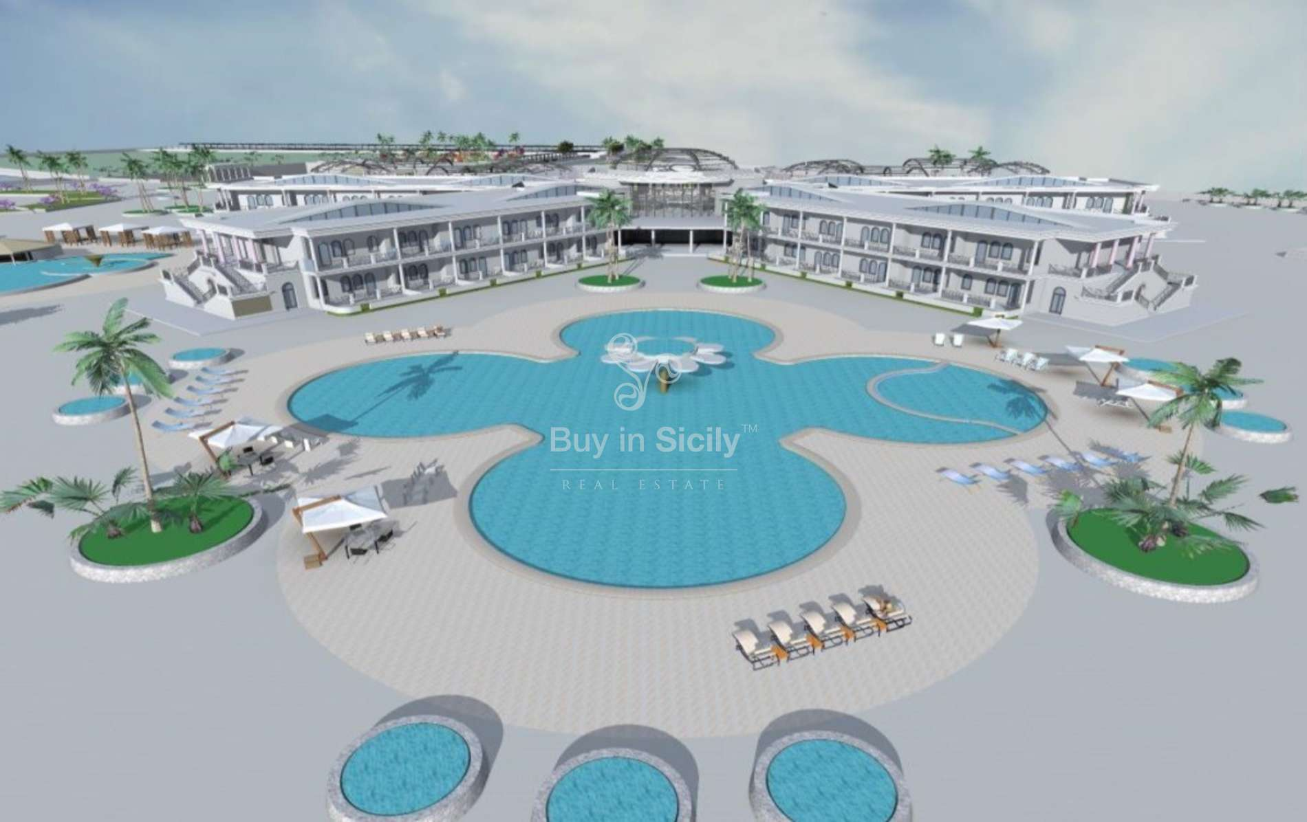Plot with approved project for build Hotel, Marina di Ragusa (Rg)